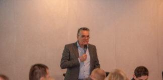 NWPCS-voorzitter Piet Peters op de nieuwjaarsreceptie van het NWPCS 2019.
